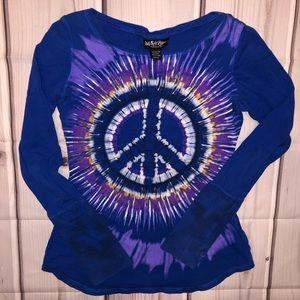 Self Esteem Tie Dye Medium GUC Shirt Peace Sign